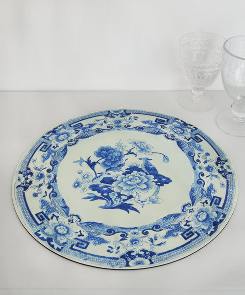 blue & White plate placemat