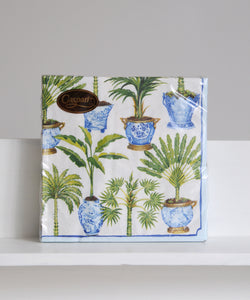 potted palm napkins
