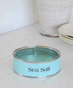 Sea Salt large tin candle