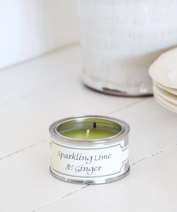 Sparkling Lime & Ginger small tin candle