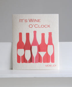 wine o'clock dishcloth