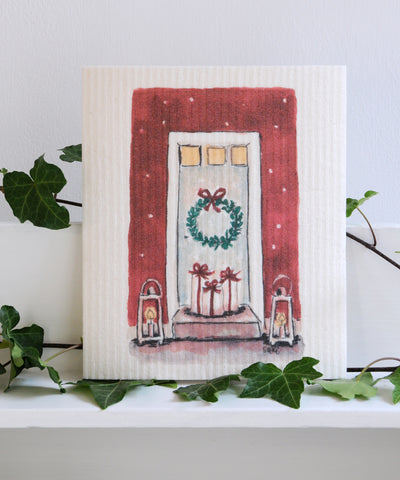 Christmas Door Dishcloth