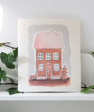 Gingerbread House Dishcloth