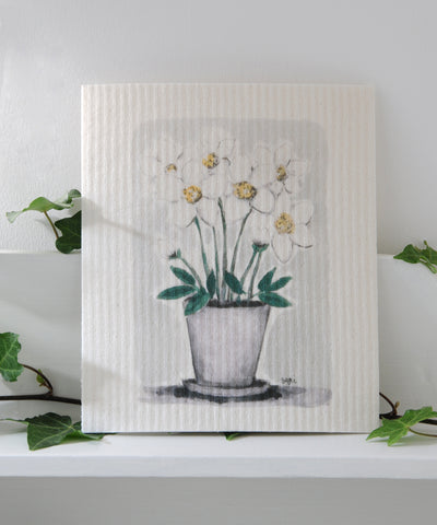 White Hellebore Dishcloth