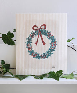 Bow Wreath Dishcloth