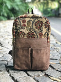 Kalamkari Kilim Vegan Leather Backpack