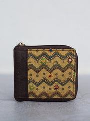 Lambani Embroidered Pinatex Wallet