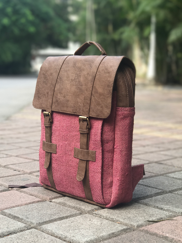 Handwoven hemp backpack