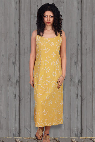 Yellow Organic Batik Gown