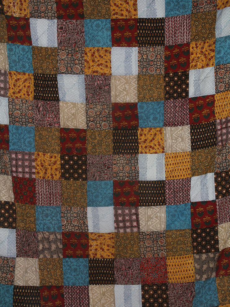 Handmade Ajrakh Quilt - Single