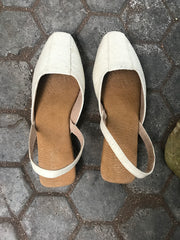 Pinatex Square Toe Slingbacks