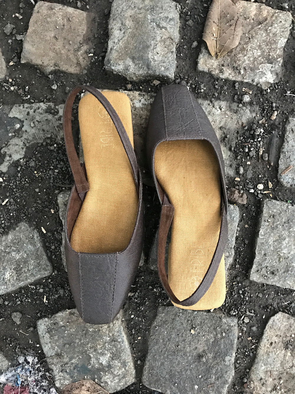 Pinatex Square Toe Shoes