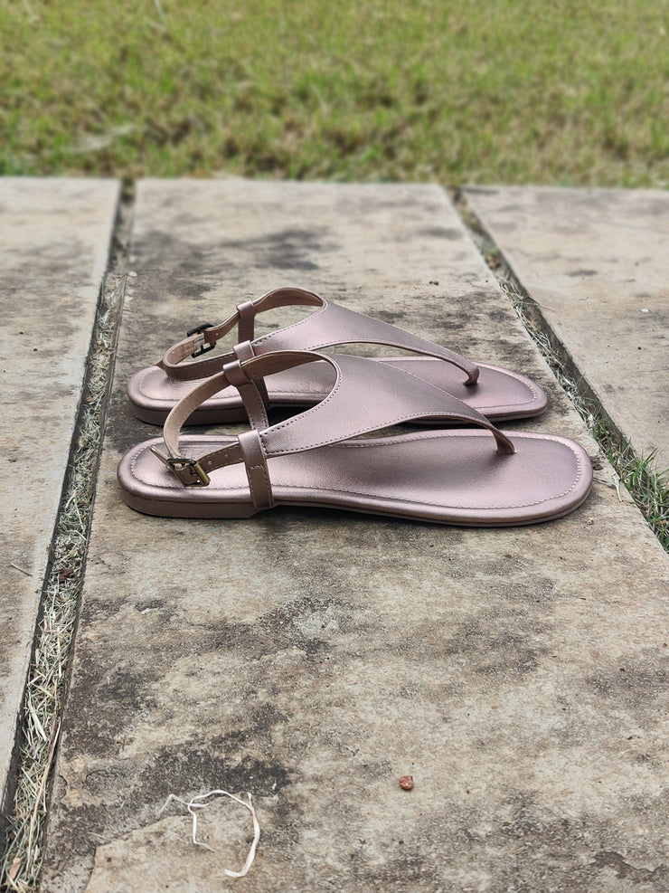 Bling Copper Slingback Sandals