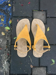 Yellow Slingback Sandals - New!