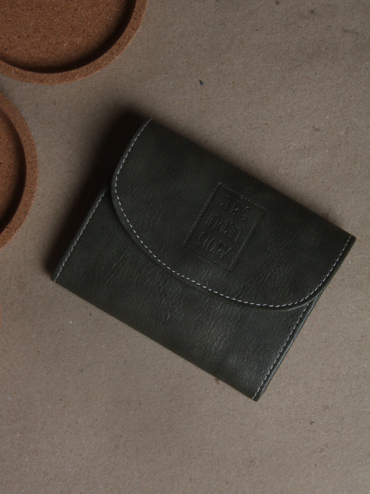 Forest Green Vegan Leather Wallet