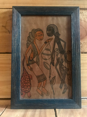 Vintage Pattachitra painting frame
