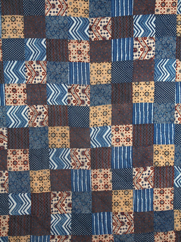 Indigo Patchwork Quilt - Single