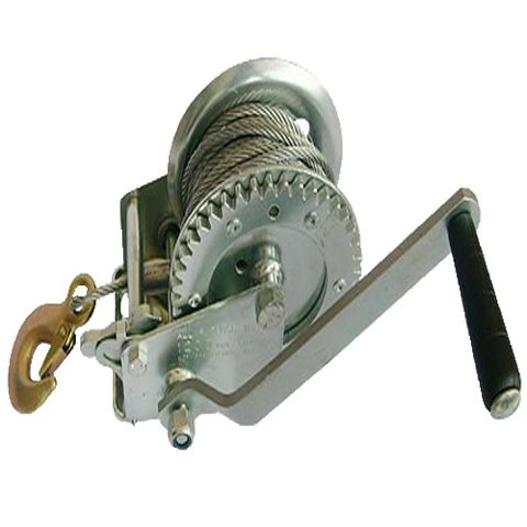 1000LB Hand Winch with 10M Wire Rope and Hook - Lifting Equipment Online