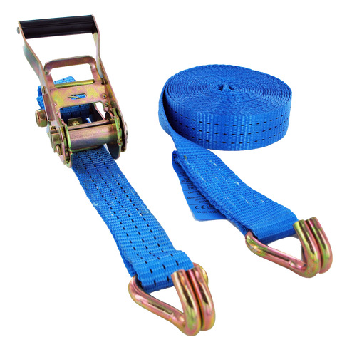 5000kg x 15 Metre Ratchet Straps (2pcs) - Lifting Equipment Online