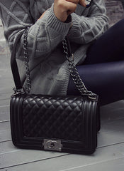 Quilted Boy Boxy Bag