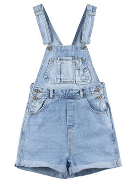 Vintage Denim Overall Shorts