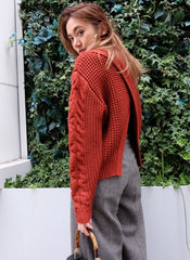 Split Back Chunky Knit Sweater