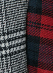 Plaid Two-tone Blanket Scarf