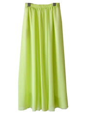 Lime Flowy Maxi Skirt