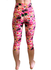 3/4 Floral Yoga Leggings
