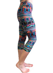 3/4 Tribal Yoga Leggings