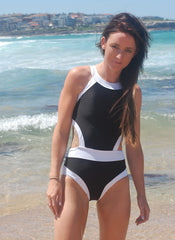Cut-out High Neck Monokini