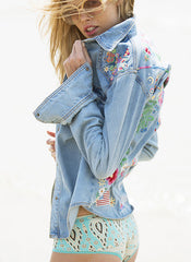 Gypsy Embroidered Denim Shirt