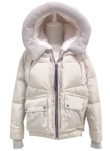 Duck Down Hooded Puffer Coat