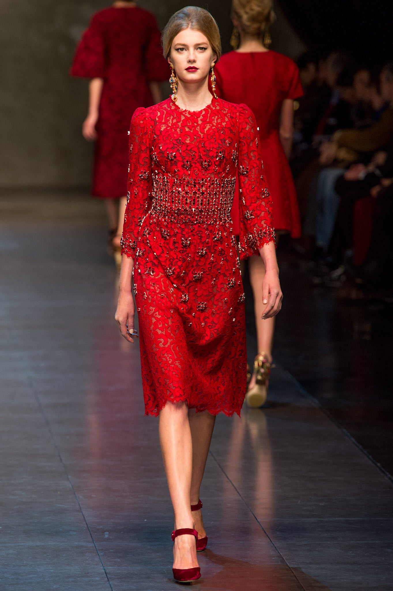 Dolce & Gabbana - Red Lace Dress