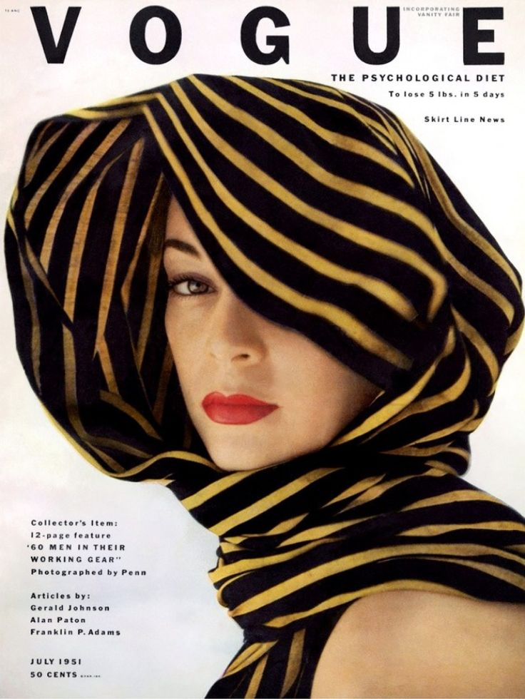 Jean Patchett by Clifford Coffin, Vogue Cover, July 1951