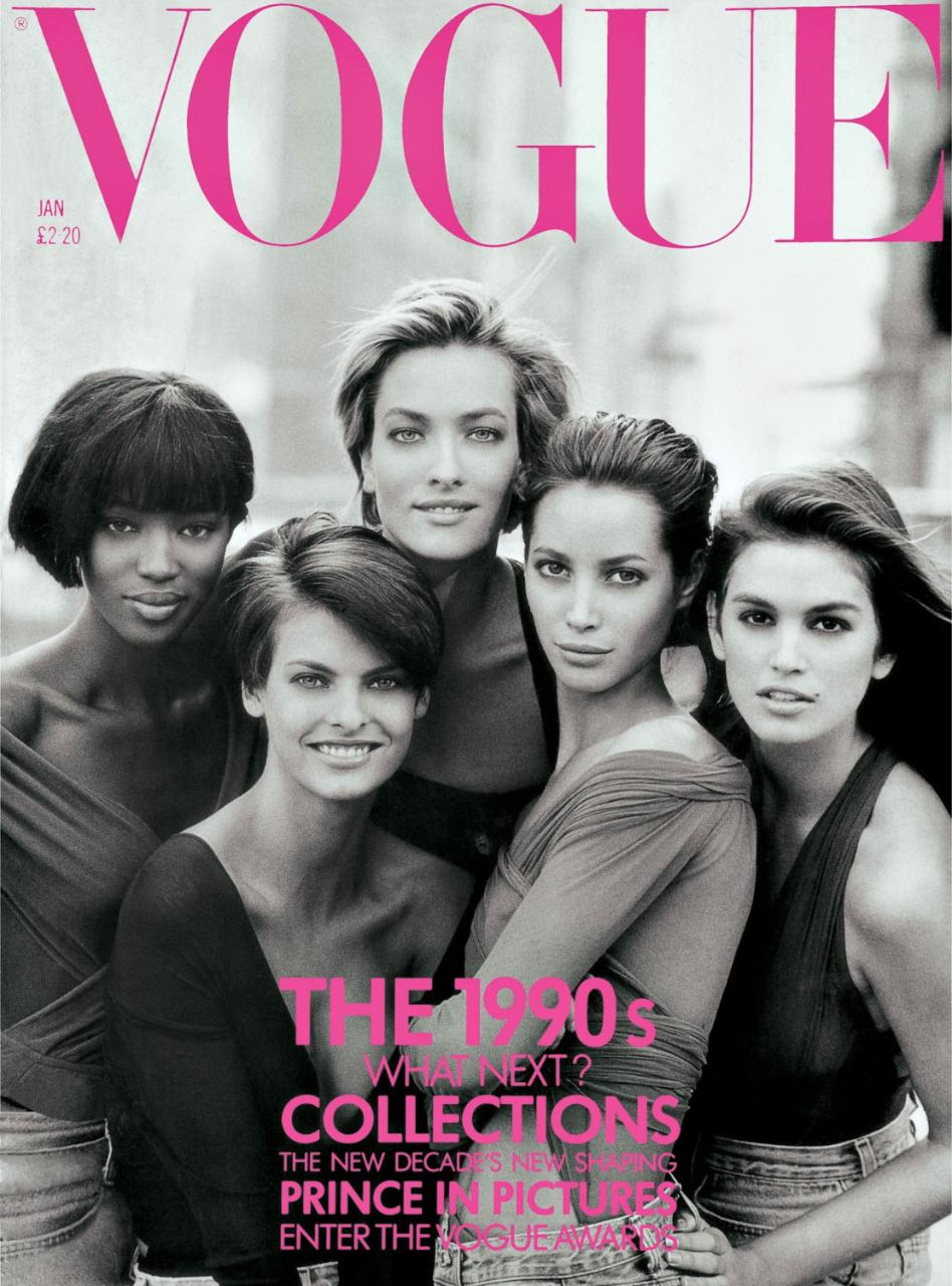Peter Lindbergh January 1990 Vogue Cover