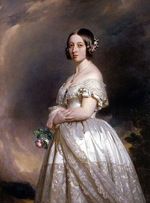 Queen Victoria in her wedding dress by Winterhalter, 1842