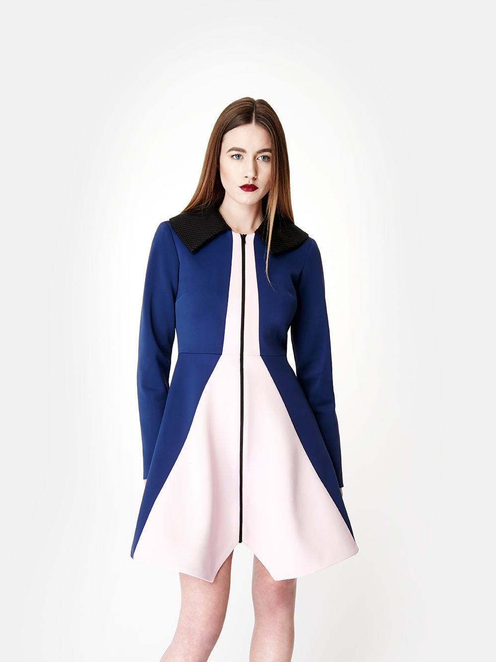 SARAH BOND Bo Bardi Coat Navy/Pink