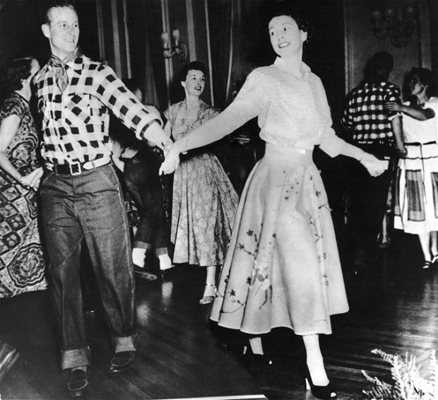 Princess Elizabeth square dancing - 1951