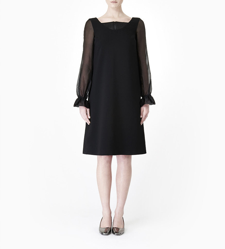 Anais Black Crepe Dress