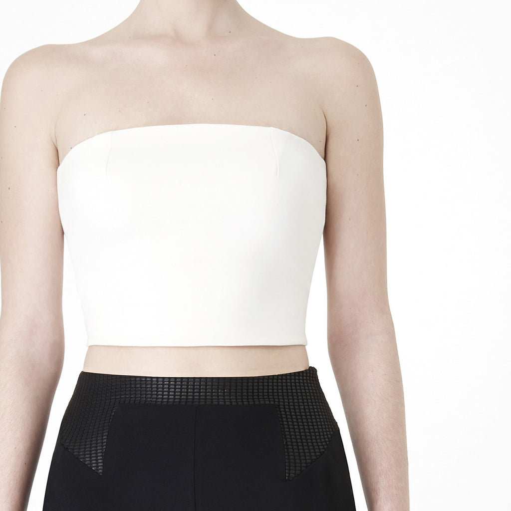 Wander Lust Ivory Tube Top