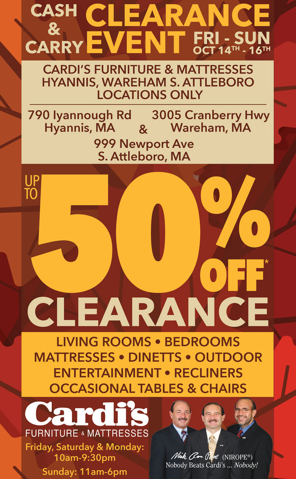 Cash & Carry Clearance Event!!