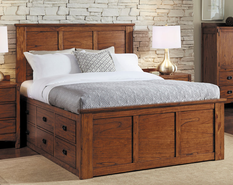 QUEEN BED            2X6DRWS