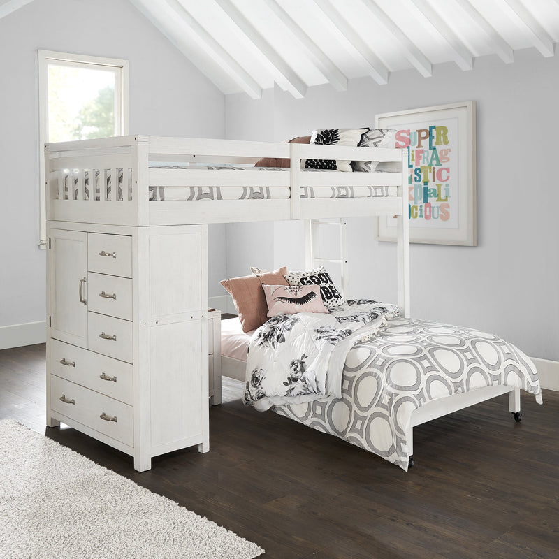 T LOFT BED W/CHEST