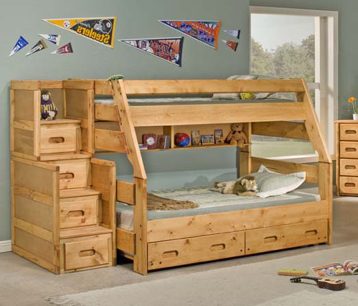 T/F BUNKBED          W/TRUNDLE