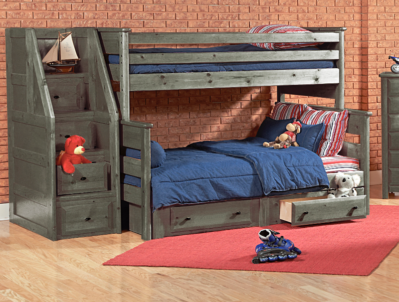T/F BUNKBED       W/STG&STAIRS