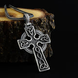 Celtic Trinity Knot Cross Pendant Christian 925 Silver Charm Necklace