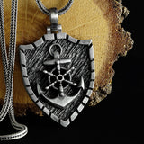 Anchor Pendant with Sterling Silver Wheat Link Chain Men's Necklace Gift for Sailor