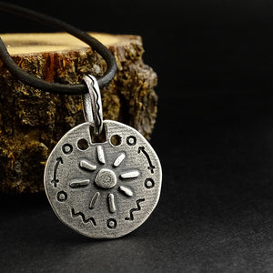 925 Hallmarked Silver Mens Balance and Optimism Charm Pendant Necklace