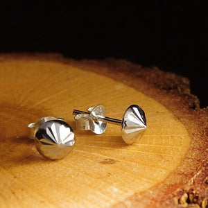 New Mens Stud Earrings in Solid 925k Sterling Silver